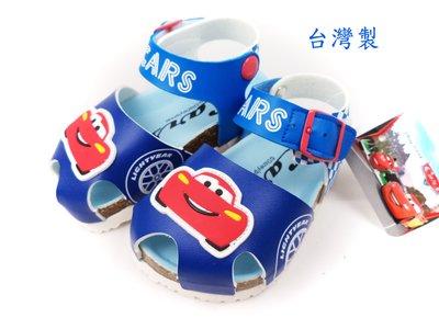 Disney 迪士尼cars麥坤賽車氣墊護趾兒童涼鞋.童鞋(563818)藍色13~17號
