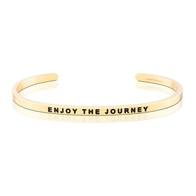 MANTRABAND 美國悄悄話手環 Enjoy the Journey 享受人生 金色手環
