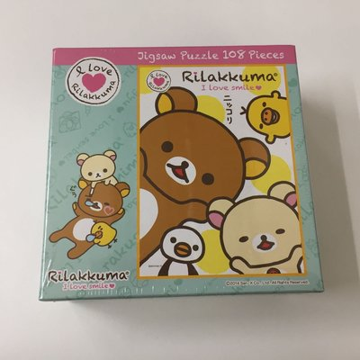 蝕本清貨 日本版 日本製 Rilakkuma 鬆弛熊 puzzles 108 pieces
