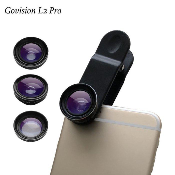Bomgogo Govision L2 Pro 廣角/魚眼/微距 3合1手機萬用鏡頭組 台南PQS