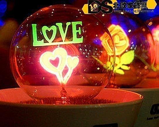 DS北歐家飾§新婚禮物求婚表白情人節禮物送禮 LOVE愛情侶盆栽小夜燈桌燈 鄉村 創意設計