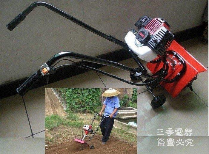 三季割草機款小型手推式耕耘機鬆土機翻地機園藝用品BH383