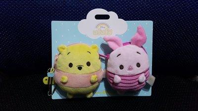 Disney 迪士尼 Ufufy Winnie the Pooh & Piglet 小熊維尼 維尼熊 豬仔 Coin Purse 散紙包 一對 (原價$118)