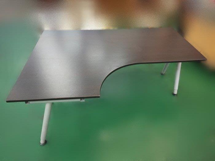 【宏品二手家具館】中古家具 家電 E91305*胡桃L型書桌* 電腦桌 辦公桌 兒童桌椅 寫字桌 課桌椅 大學椅拍賣