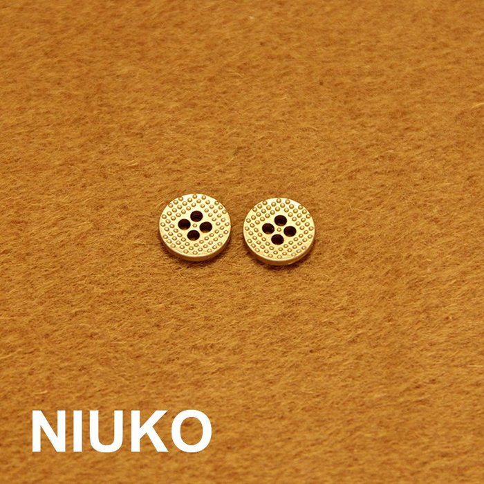 廠家~特價NIUKO 啞金色金屬小襯衫鈕扣子 精致襯衣鈕扣 服裝輔料四眼小扣子