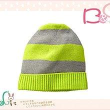 【B& G童裝】正品美國進口GAP Intarsia striped beanie 灰綠色針織帽S/M號2-3yrs