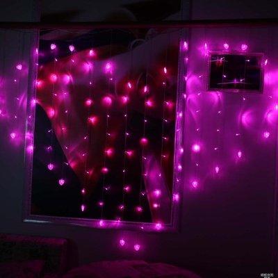 LED心形彩燈閃燈串燈婚慶婚房佈置創意生日浪漫求婚裝飾氣氛串燈