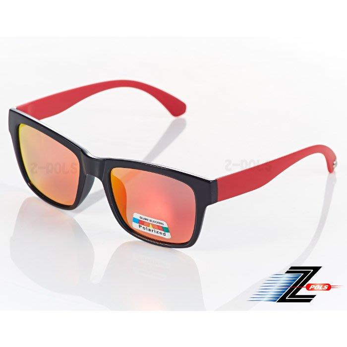 【視鼎Z-POLS經典復古帥氣款】頂級TR90輕量材質搭載100%Polarized偏光太陽眼鏡!(紅)