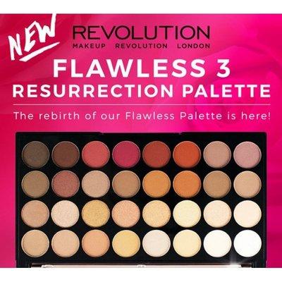 美代小舖 現貨 英國Makeup Revolution Flawless 3 Resurrection 32色眼影盤