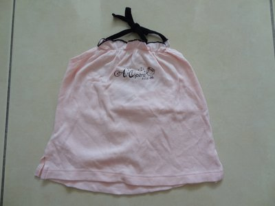 【臻迎福】ELLE粉紅色女童上衣 細肩帶綁肩帶小洋裝 嬰兒服 短袖上衣 冷氣房衣 寶貝衣 (非紗布衣) (C箱) 台中市