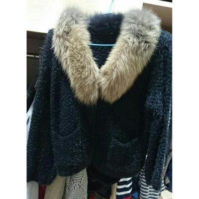 全新韓國毛領口袋毛海保暖外套