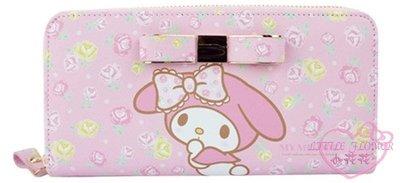 小公主日本精品♥Melody美樂蒂粉色立體造型拉鍊長夾 錢包卡夾多層大容量攜帶42220701