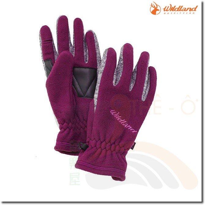 荒野 WILDLAND  中性防風保暖翻指手套 W2011-53紫色 保暖手套 防風/刷毛/保暖 喜樂屋戶外