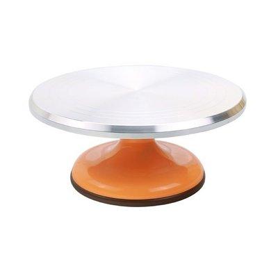三能 蛋糕轉台(橘色) SN4172 蛋糕轉盤 裱花轉台 轉盤蛋糕 裱花台 烘焙工具 馬卡龍