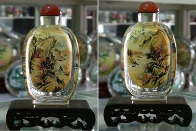 山居圖中國特色手工藝品外事商務禮品送長輩水晶內畫鼻煙壺 壺說119