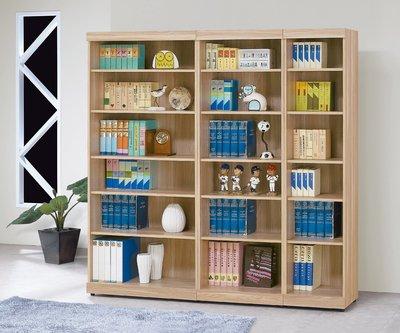 【南洋風休閒傢俱】書架 書櫃 書櫥 展示櫃 收納櫃 造形櫃 置物櫃系列-原切橡木浮雕2*6尺開放書櫥CY413-823
