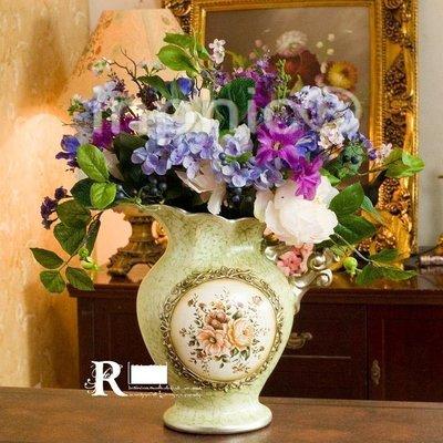 INPHIC-歐式花藝推薦 伊薇特手繪花壺2束伊莎貝拉 仿真花卉花藝套裝