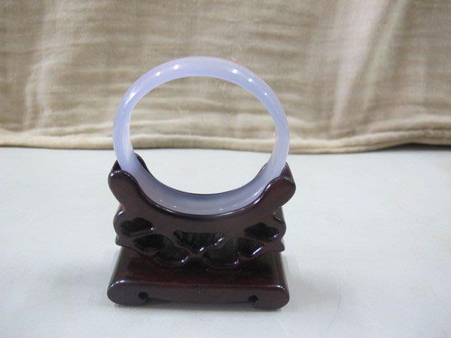 二手舖 NO.4273 頂級天然紫玉隨手環 玉環 玉石 冰透種 種水好 值得收藏