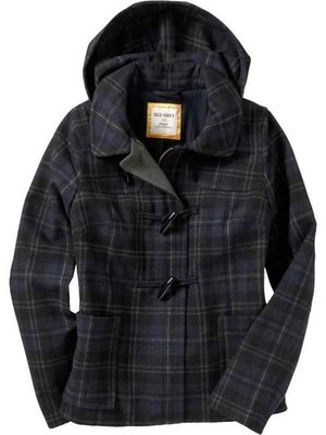 美國口碑老牌Old Navy Women s Wool-Blend Toggle Coats M(Tall)牛角釦釦外套含運