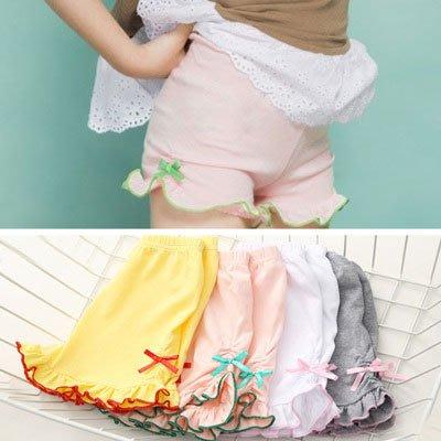寶寶花邊安全褲 夏裝韓版新款女童童裝 兒童純色短褲kz-6607