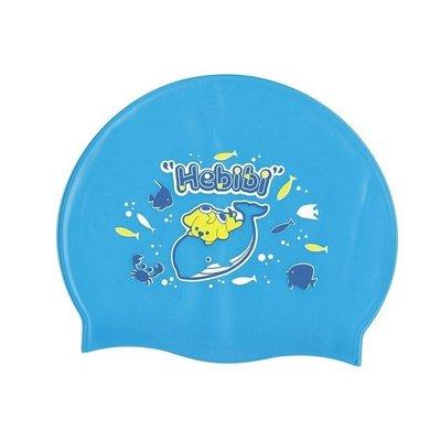 【阿LIN】660AAA 泳帽 比比狗兒童矽膠 兒童全矽膠泳帽 狗狗 魚 矽膠材質 泳帽