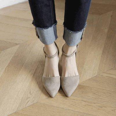 【ZEU'S】尖頭典雅一字釦帶跟鞋『 07119402 』【現+預】G