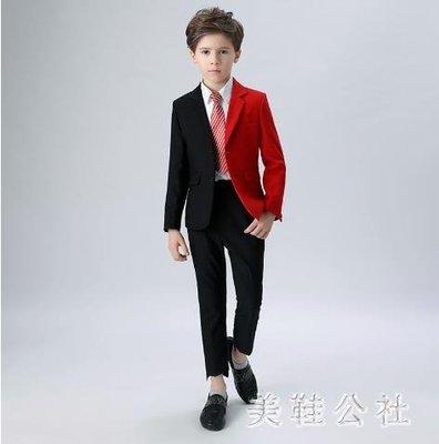 中大尺碼兒童西服個性禮服中大童西裝走秀男童禮服模特時尚zzy7475