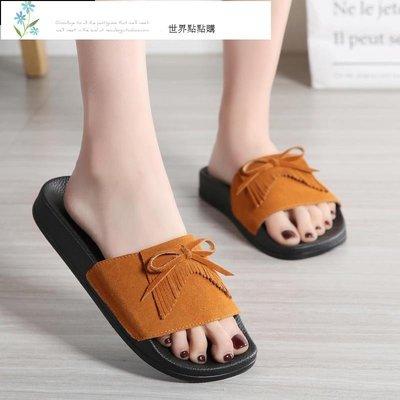 蝴蝶結節可愛的脫鞋 女土外穿夏潮流托鞋 時尚一字拖鞋 可愛的ins潮 海灘鞋 涼鞋 溯溪鞋 運動鞋 戶外鞋