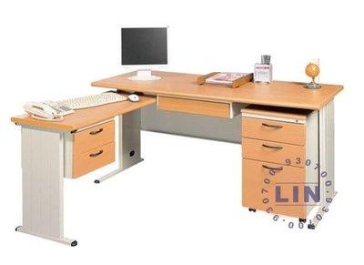 【品特優家具倉儲】◎P361-15辦公桌主管桌TH木紋整組辦公桌◎