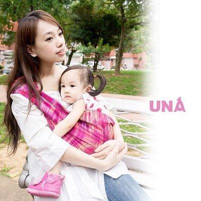 Una背巾 (哺乳揹巾) 背帶 推車 哺乳衣 巾最佳支援~嬰兒背巾 ☆╮精選彈性系列~時光流影-紅╭☆台灣製好品質