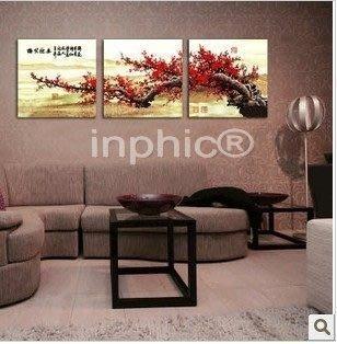 INPHIC-梅花掛畫壁畫現代簡約客廳...