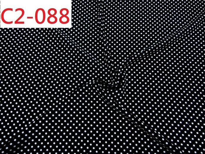 (特價10呎550元) 布料  日本進口黑白水玉點點雪紡【CANDY的家2館】C2-088 上衣洋裝料(0.3cm點)☆