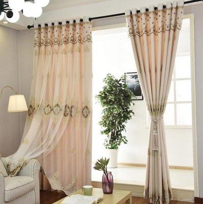 愛家窗簾客廳臥室成品簡約現代全遮光布落地窗飄窗紗歐式雙層 YTL