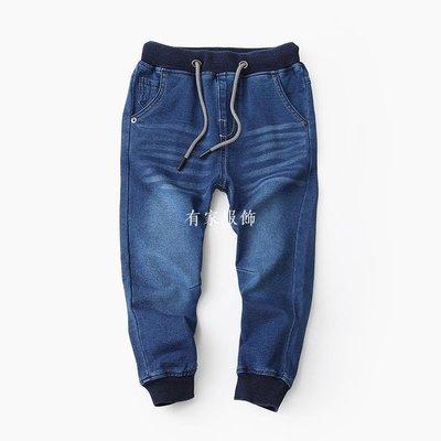 有家服飾基本款男童針織軟牛仔褲 110-190中大童兒童牛仔長褲2019春裝新品