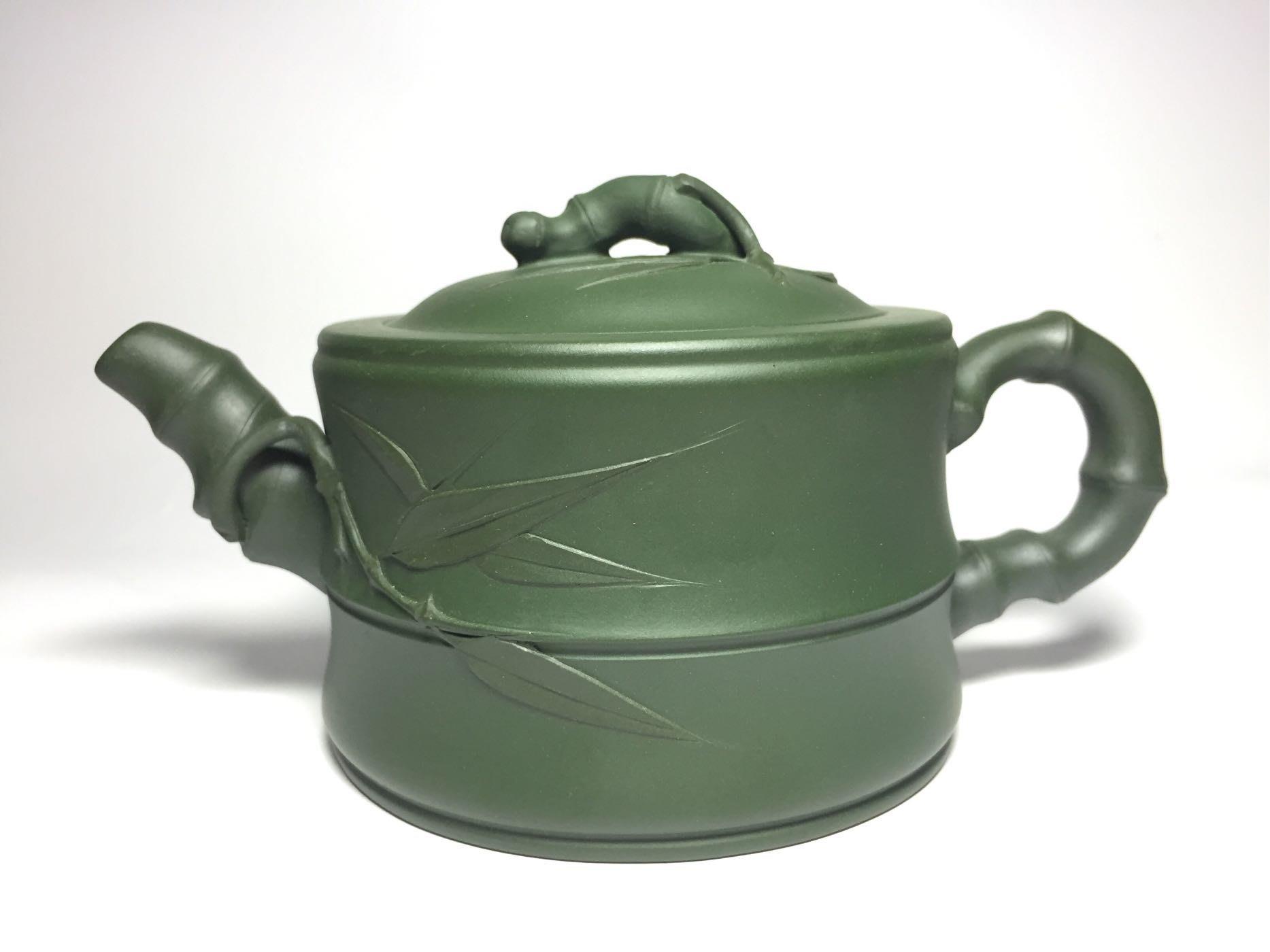 紫砂壺~竹段/民國綠