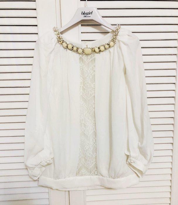 黃淑琦💎綴領仙氣白上衣