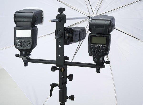呈現攝影-Phottix FTx2 十字型閃光燈支架 傘座/關結 三燈支架 高速攝影 離機閃 canon