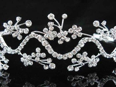 結婚飾物;結婚頭飾;新娘婚禮頭飾;新娘頭飾;婚禮皇冠; BRIDE BAND;BRIDAL HEADPIECE;WEDDING TIARA COMB #1875
