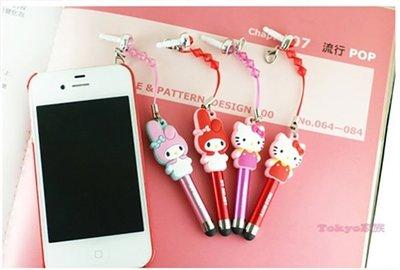 《東京家族》Hello Kitty 美樂蒂 MELODY 靜電式觸控筆 各2色(粉與紅)  4選1
