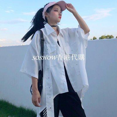 夏季正韓ulzzang原宿風bf港味chic寬松百搭ins超火襯衫襯衣女學生