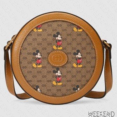 【WEEKEND】 GUCCI x DISNEY 迪士尼 聯名 米奇 Round 圓形 肩背包 603938