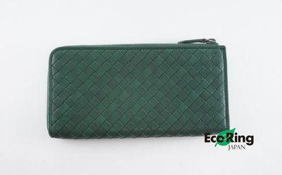 [Eco Ring HK]*Bottega Veneta Long Wallet Green B02167652*Rank AB-207001769-