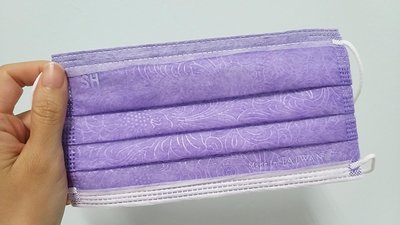 絕版 上好 花漾紫 大人平面口罩