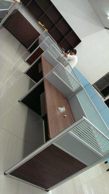 亞毅oa辦公家具oa屏風oa高隔間玻璃隔間造型牆面鋁合金屏風鋼板屏風 台南市高雄台中有服務