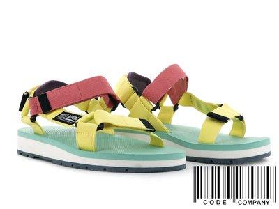 =CodE= PALLADIUM OUTDOORSY URBANITY 魔鬼氈涼鞋(黃綠粉紅) 77071-714 女
