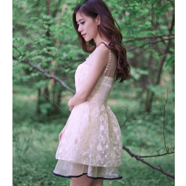 5Cgo【鴿樓】會員有優惠   38552979457 新娘結婚禮服婚禮敬酒服小清新歐根紗刺繡連衣裙 伴娘禮服伴娘服