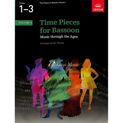 【Kaiyi Music】Time pieces for bassoon grade 1-3 vol 1