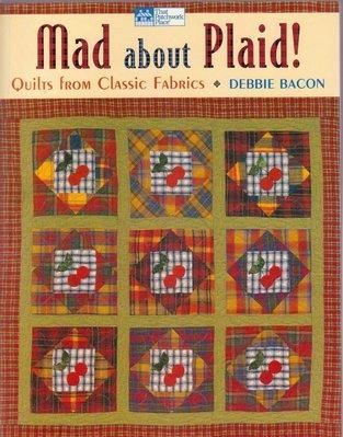 【傑美屋-縫紉之家】美國拼布書籍~mad about plaid 瘋狂格子#1203