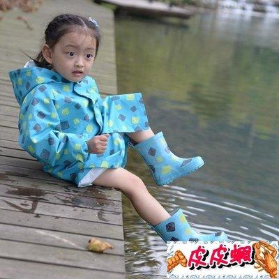 印花兒童雨鞋 加厚防滑鞋底天然環保橡膠無異味 美麗伊芙【皮皮蝦】