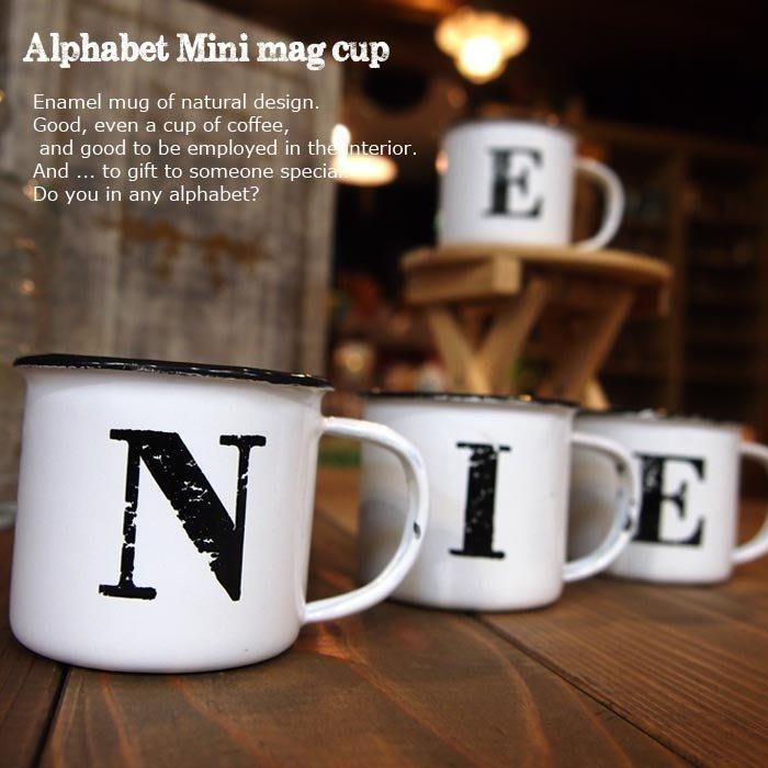 [ Atelier Smile ]  鄉村雜貨 復古 搪瓷 字母杯 小花器 收納罐  (現+預)